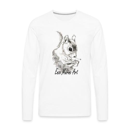 Ecureuil la clope - T-shirt manches longues Premium Homme