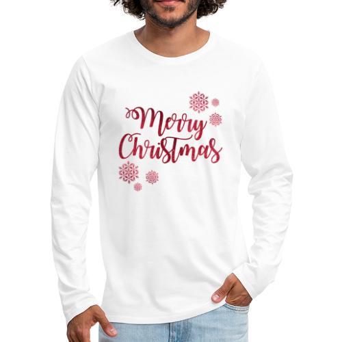 Merry christmas Noël New shape fane design vintage - T-shirt manches longues Premium Homme