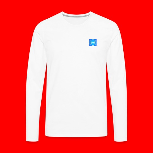 pd Blue V2 - Herre premium T-shirt med lange ærmer