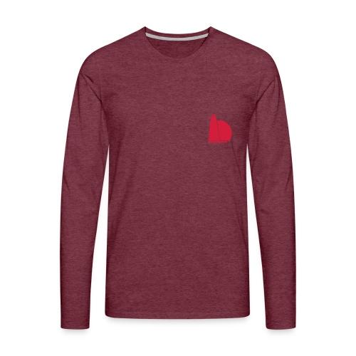 One two - Herre premium T-shirt med lange ærmer