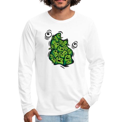 Getting Outside (green version) - Men's Premium Longsleeve Shirt