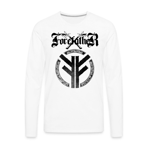 Forefather logo and symbol black - Men's Premium Longsleeve Shirt