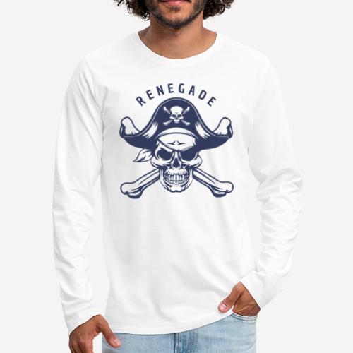 pirate skull renegade - Männer Premium Langarmshirt
