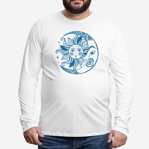 Sonnenmond Astrologie - Männer Premium Langarmshirt