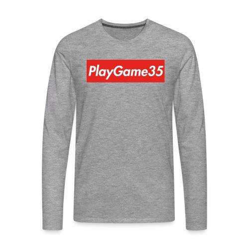 PlayGame35 - Maglietta Premium a manica lunga da uomo