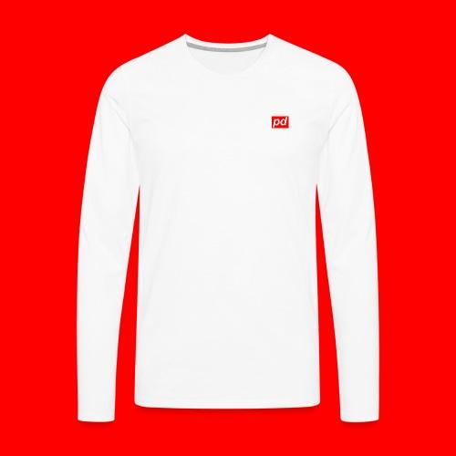 pd Red - Herre premium T-shirt med lange ærmer