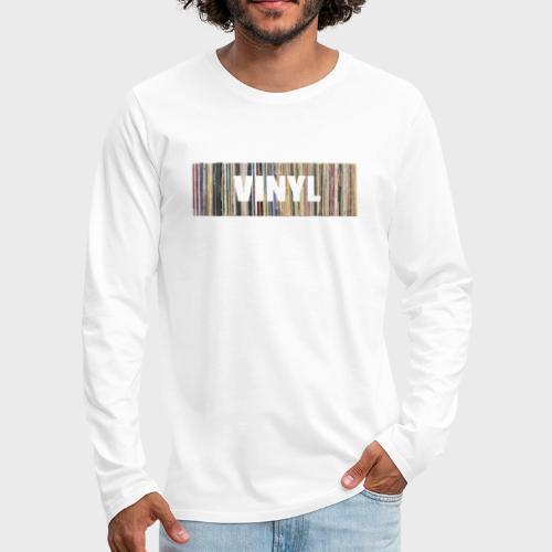 T-Record - Vinyl 'Alles op een rij' - Mannen Premium shirt met lange mouwen