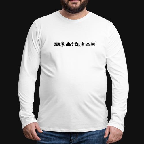 Weissabgleich Symbole Horizontal - Männer Premium Langarmshirt