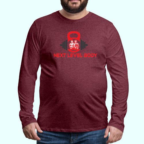 NEXT LEVEL BODY - Miesten premium pitkähihainen t-paita