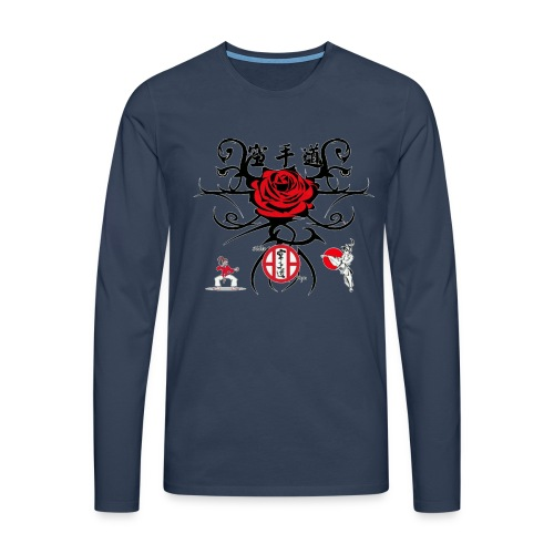 Rose rouge1 gif - T-shirt manches longues Premium Homme