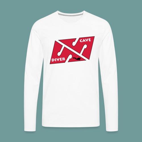 cave_diver_01 - T-shirt manches longues Premium Homme