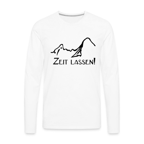 Watze-Zeitlassen - Männer Premium Langarmshirt