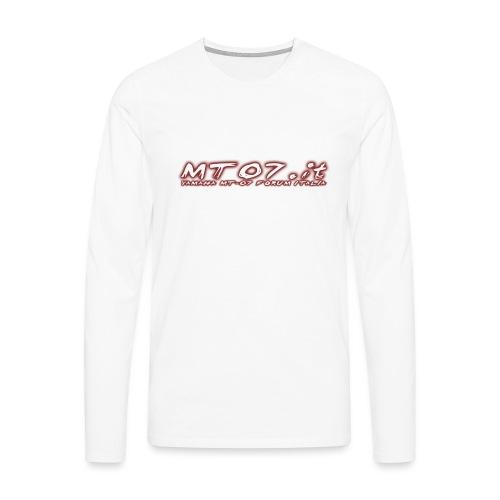 mt07f png - Maglietta Premium a manica lunga da uomo