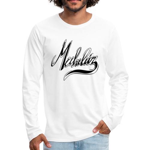 Mecheleir Script - Mannen Premium shirt met lange mouwen