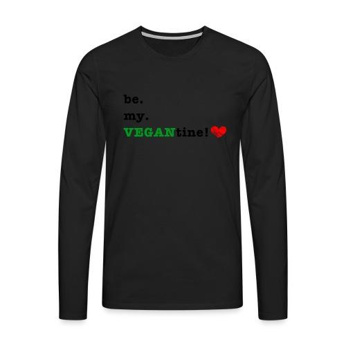 VEGANtine Green - Men's Premium Longsleeve Shirt