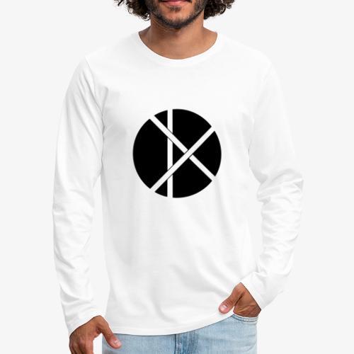 Don Logo - musta - Miesten premium pitkähihainen t-paita