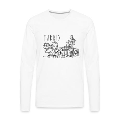 CIBELES NEGRO - Camiseta de manga larga premium hombre