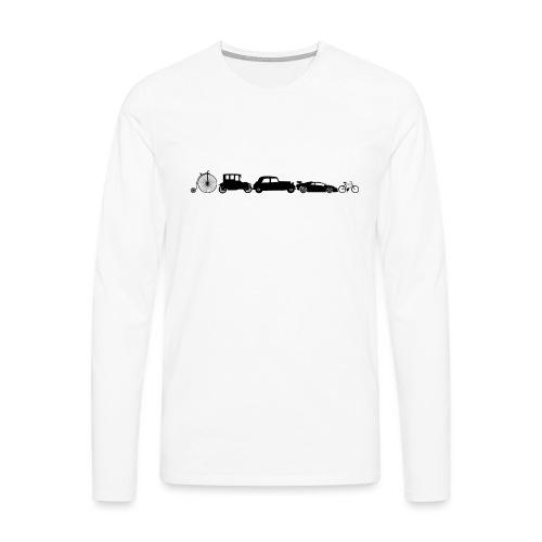 evolution of vechicles - Mannen Premium shirt met lange mouwen