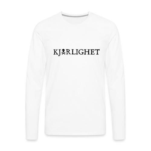 Kjærlighet (Love) | Black Text - Men's Premium Longsleeve Shirt