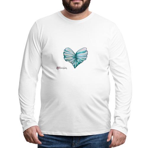 Verleih deinem Herzen Flügel - Männer Premium Langarmshirt