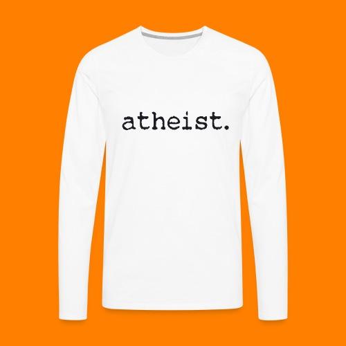 atheist BLACK - Men's Premium Longsleeve Shirt