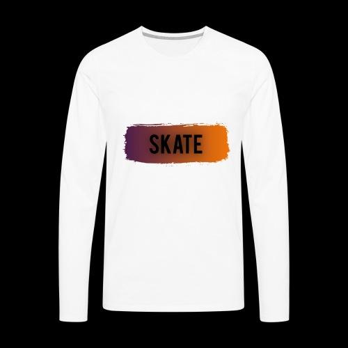 skate brush - Mannen Premium shirt met lange mouwen