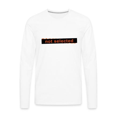 Not Selected - Mannen Premium shirt met lange mouwen