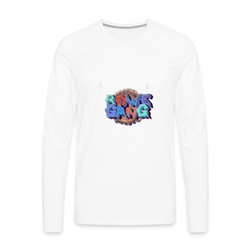 RoweGang Basic Logo - Miesten premium pitkähihainen t-paita
