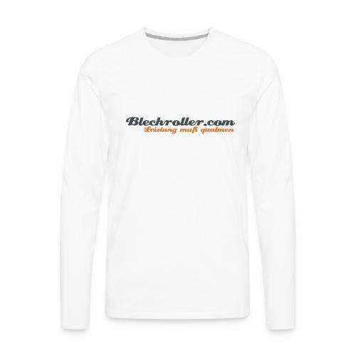 blechroller logo - Männer Premium Langarmshirt