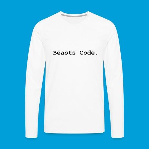 Beasts Code. - Men's Premium Longsleeve Shirt