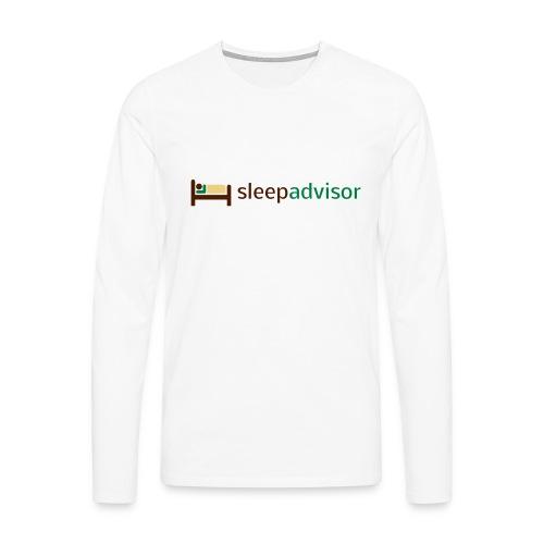 SleepAdvisor - Maglietta Premium a manica lunga da uomo