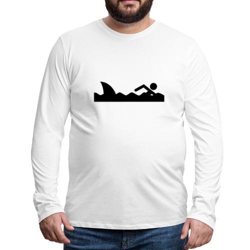 Haifischfutter - Männer Premium Langarmshirt