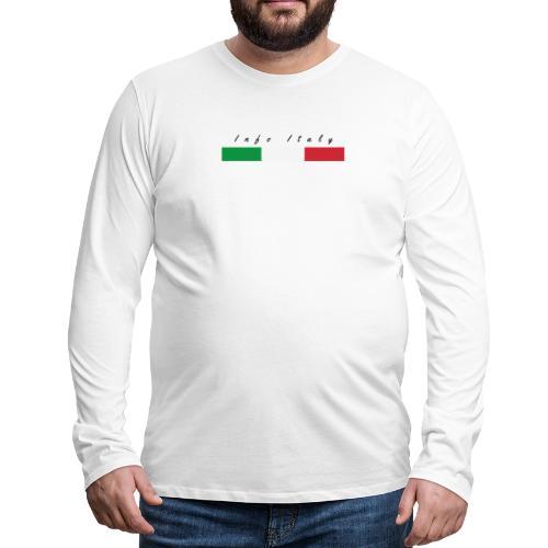 Info Italy Design - Maglietta Premium a manica lunga da uomo