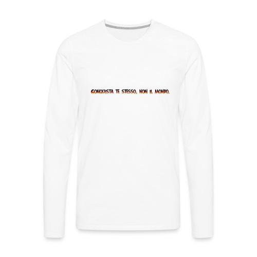 citazione-PNG - Maglietta Premium a manica lunga da uomo