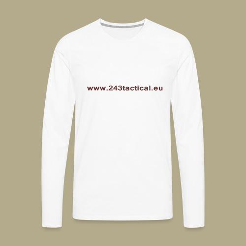.243 Tactical Website - Mannen Premium shirt met lange mouwen
