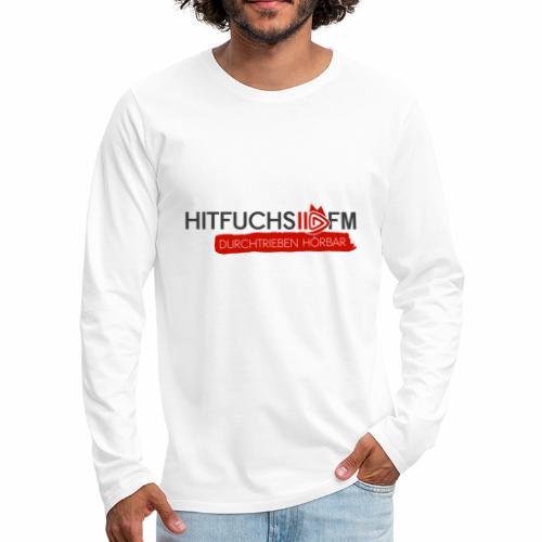 HitFuchs logo + slogan - Men's Premium Longsleeve Shirt