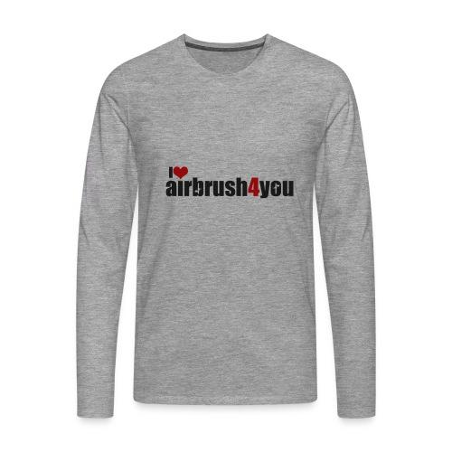 I Love airbrush4you - Männer Premium Langarmshirt