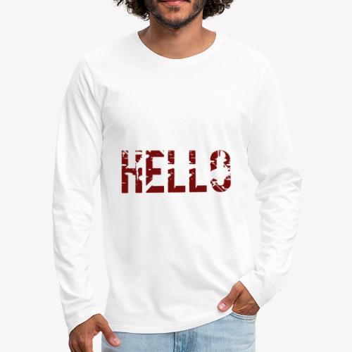 hello - T-shirt manches longues Premium Homme