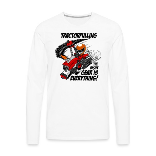 0966 tractorpulling - Mannen Premium shirt met lange mouwen