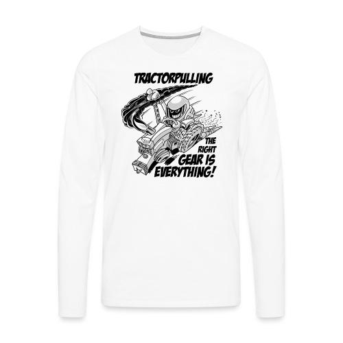 0966 tractorpulling BW - Mannen Premium shirt met lange mouwen