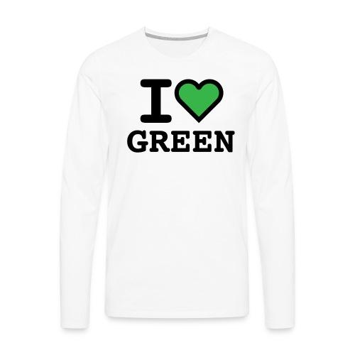 i-love-green-2.png - Maglietta Premium a manica lunga da uomo