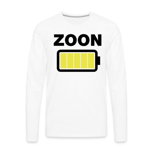 Batterij zoon vol - Mannen Premium shirt met lange mouwen