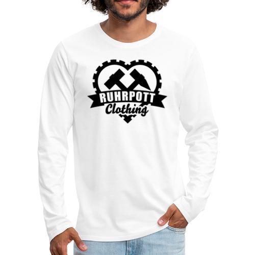 ruhrpott clothing 1c sw - Männer Premium Langarmshirt