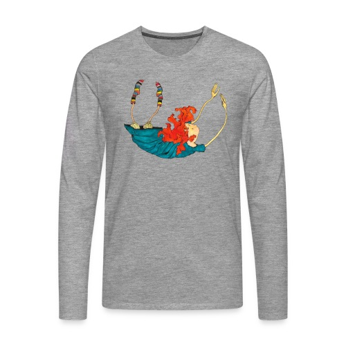 Frit fald - Herre premium T-shirt med lange ærmer