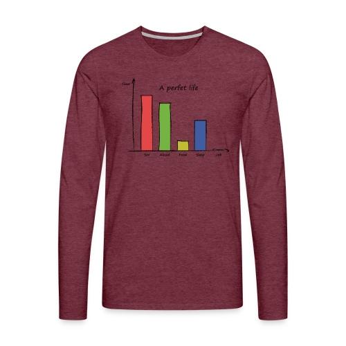 Vita perfetta - Maglietta Premium a manica lunga da uomo