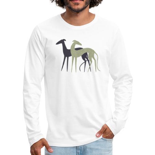Zwei Windhunde - Männer Premium Langarmshirt