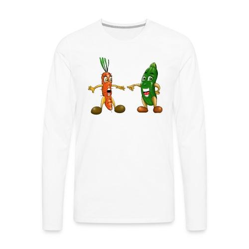 Les légumes du bébé et des végans - T-shirt manches longues Premium Homme