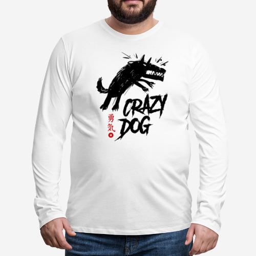 verrückter verrückter Hund - Männer Premium Langarmshirt