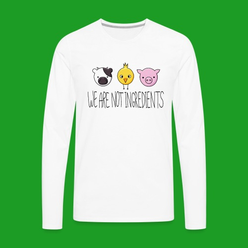 Vegan - We are not ingredients - T-shirt manches longues Premium Homme