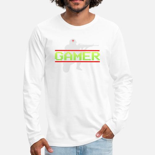 Het Ideale Cadeau Voor de Echte Gamer! - Mannen Premium shirt met lange mouwen